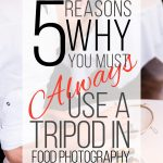 5 Reasons why you must always use a tripod for food photography
