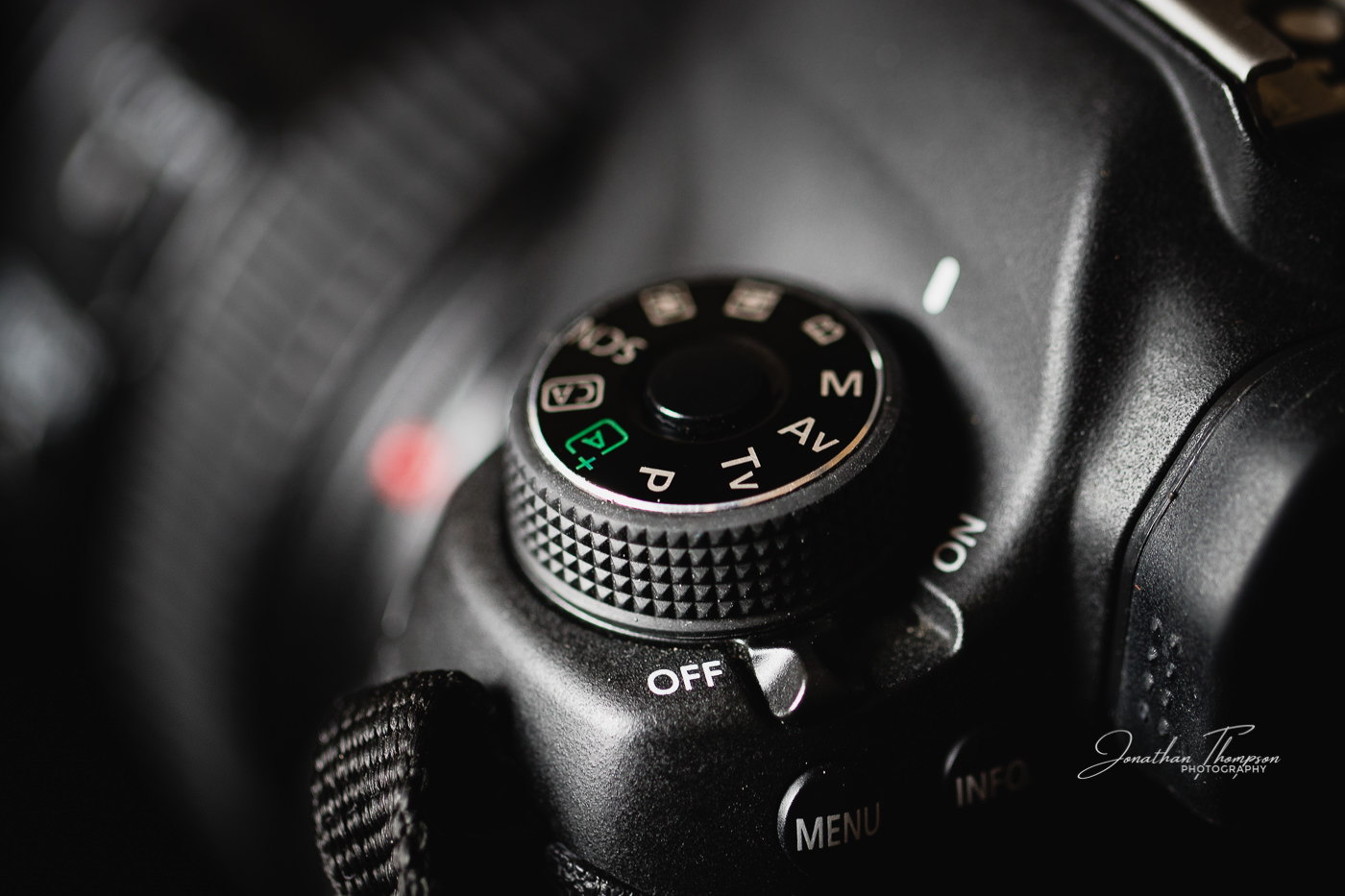 Photo of a Canon Camera mode dial on a Canon 6D