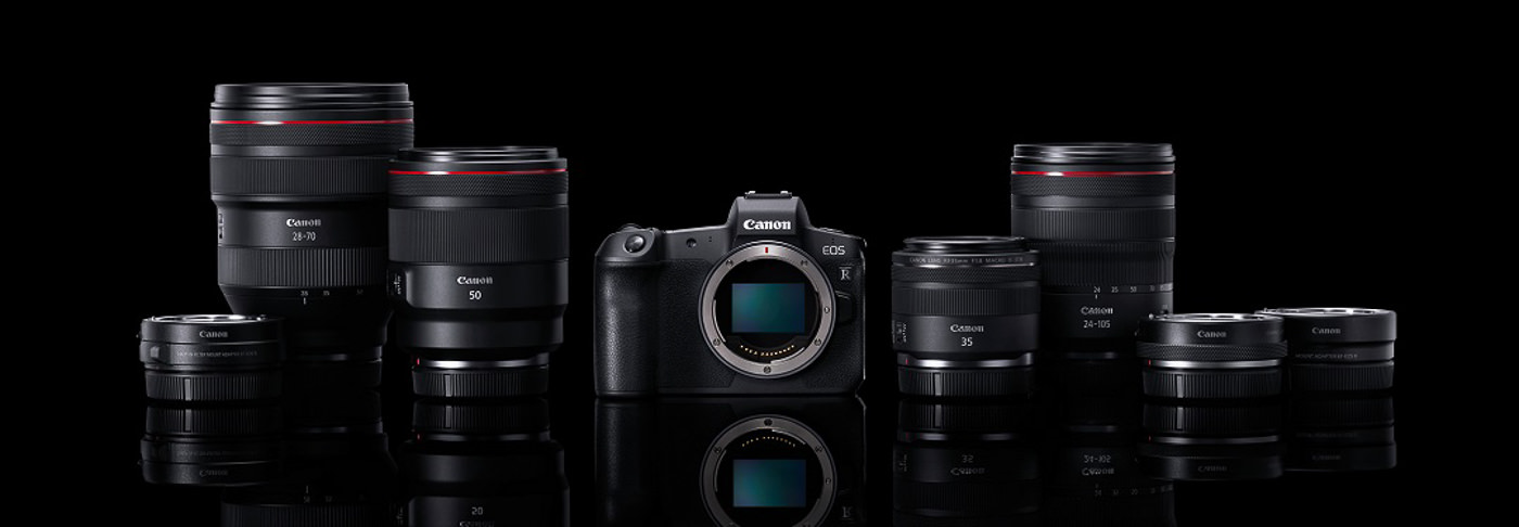 Canon EOS R Line Up of cameras and lenses