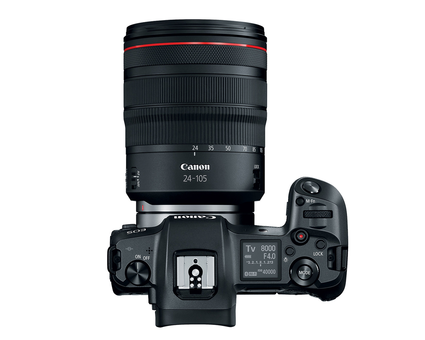 Canon EOS R top down shot with 24-105 f4 lens