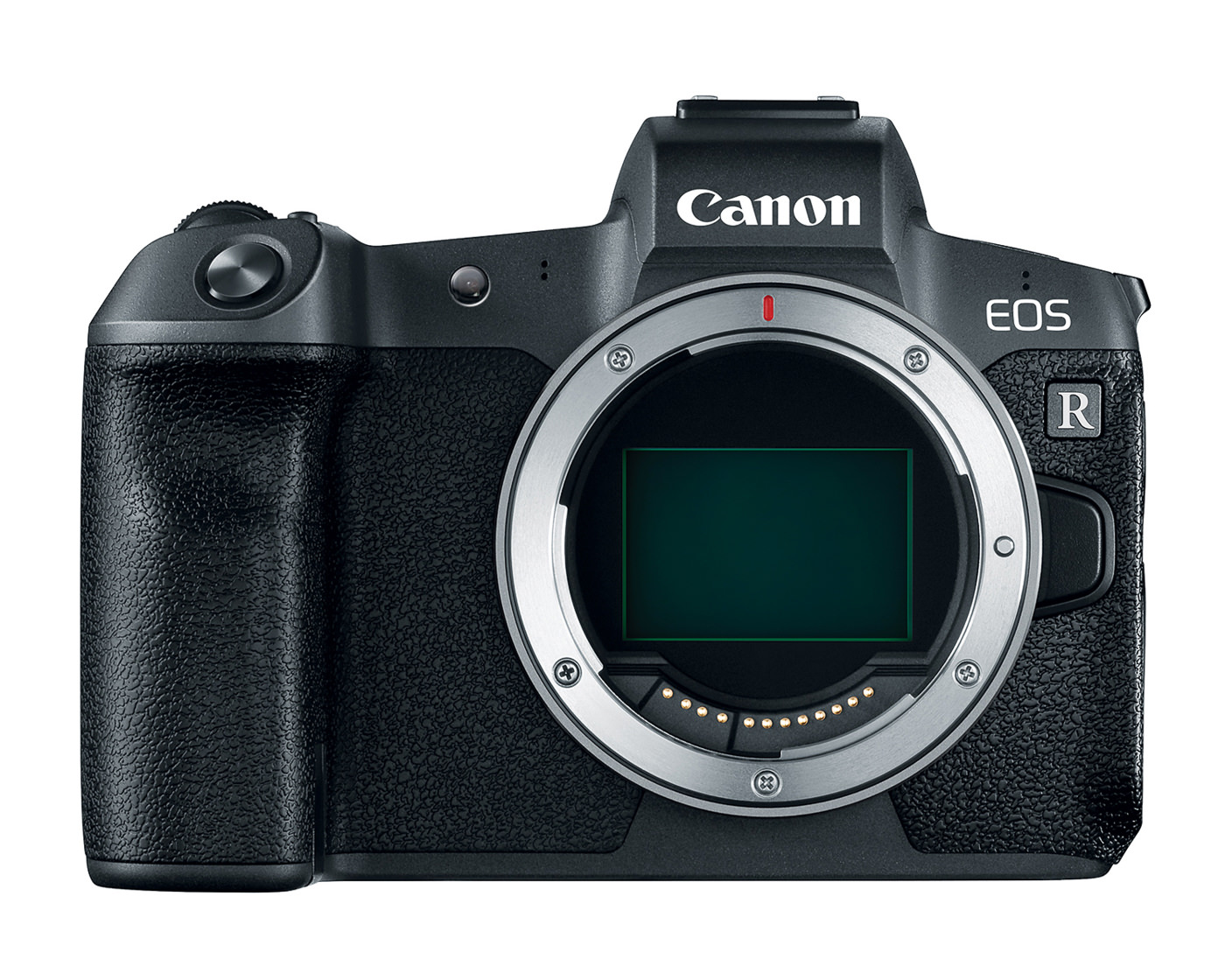 Canon EOS R front view with sensor visible