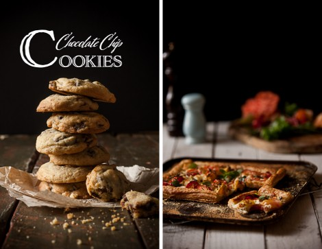 Chocolate Chip Cookies & Tomato Mozzarella Tart