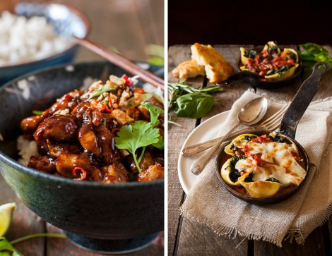Kung Pow Chicken & Baked Pasta Shells