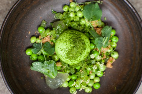 Fresh peas, garden mint, celery at The Dairy